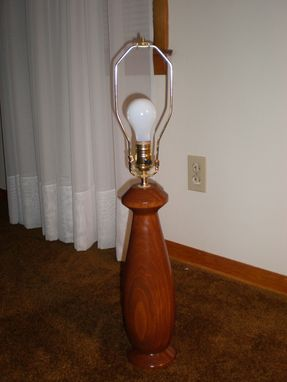 Custom Made Turned Contemporary Lamp