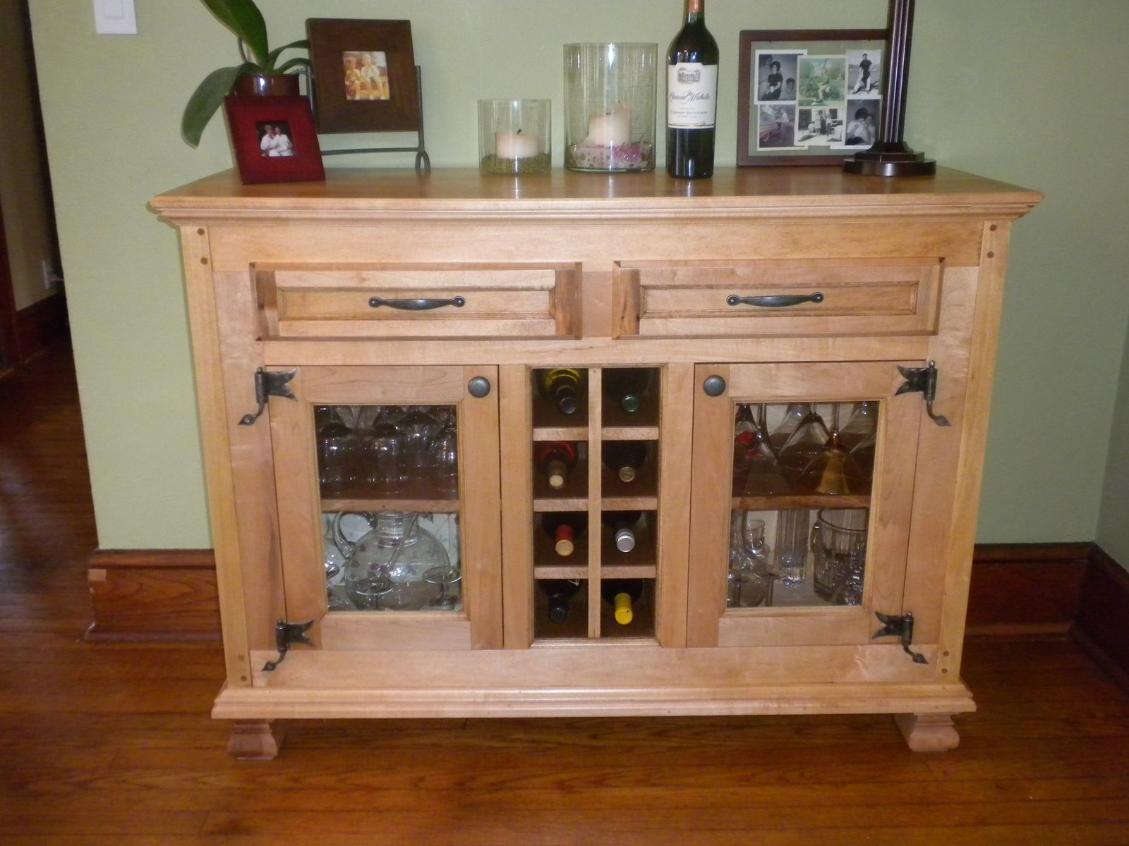 Rustic buffet table furniture - Custom Made Wine Buffet Cabinet