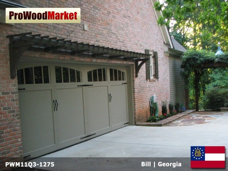 Hand Crafted Pergola And Garage Door Trellis By Pro Wood