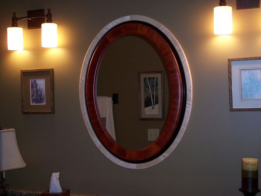 Custom Made Eliptical Mirror And Frame