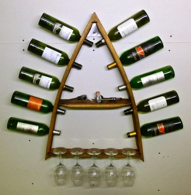 Custom Made Steeple Uno - Barel Stave Wine Rack