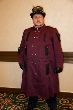 Custom Made Men's Custom Steampunk Overcoat