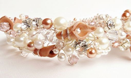 Custom Made Pearl Crystal Rhinestone Wedding Bridal Hair Vine Headband