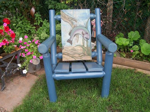 Custom Made Custom Handcarved Cedar Deck Chair