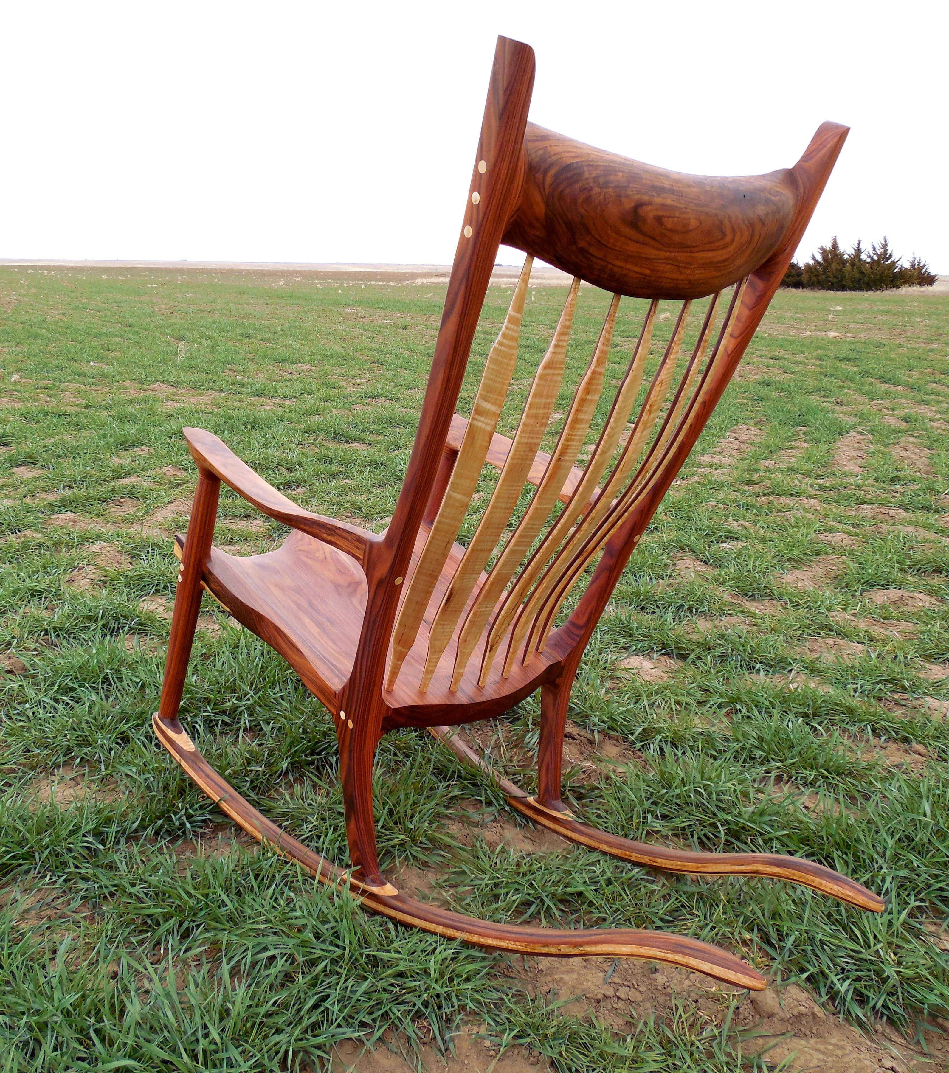buy hand made maloof style rocking chairs made to order from