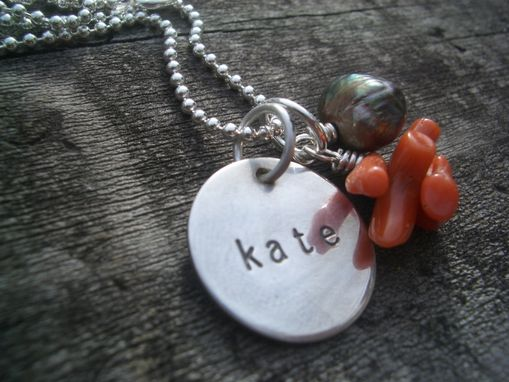 Custom Made Pendant Necklace With Personalized Engraving