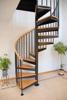 Custom Made Classic Steel Spiral Stair