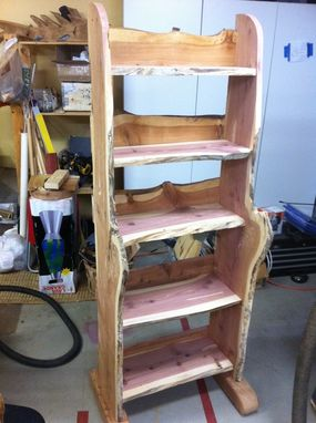 Custom Made Cedar Retail Tea Shelf