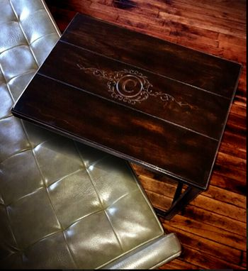 Custom Made Monogramed Tray Tables