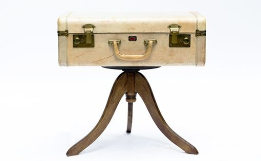 Custom Made Vintage Suitcase Table, Traveller