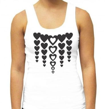 Custom Made Heart Tshirt- Black & White Tshirt- Fun Tshirt- Modern Tshirt