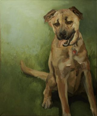 Custom Made Dog Portrait Painting