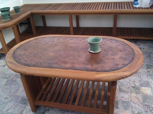 Custom Made Teak Display Table