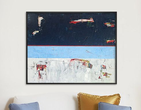 Custom Made 60x48x1.5 Inch Abstract Canvas Art. Abstract Wall Art On Gallery Wrapped Canvas. Abstract Painting