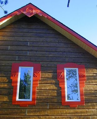 Custom Made Architectural Art | Glyphs On Cabin Trim