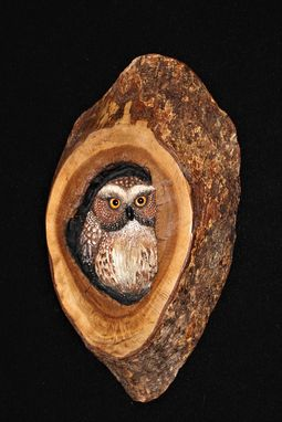 Custom Made Hand Carved Wood Owl Wildlife Sculpture