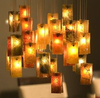 Custom Made Pendant Lighting - Autumn Leaves