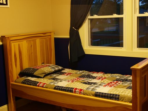 Custom Made Twin Hickory Size Bed