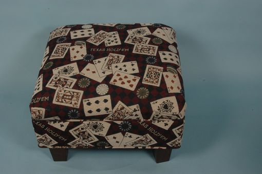 Custom Made Texas Hold'em Boot Holding Chair Hugging Ottoman