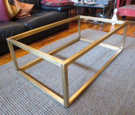 Custom Metal Modern Coffee Table Base By Andrew Stansell