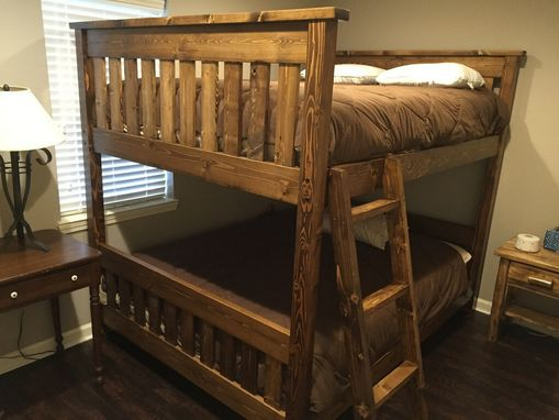 Custom Made Queen Over Queen Bunk Bed