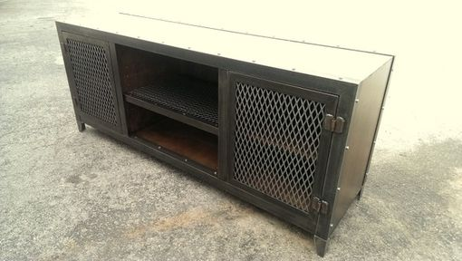 Custom Made Vintage Industrial Console #002