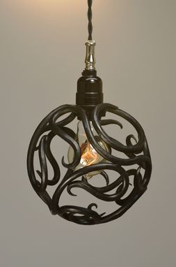 Custom Made Scroll Ball Pendant Light