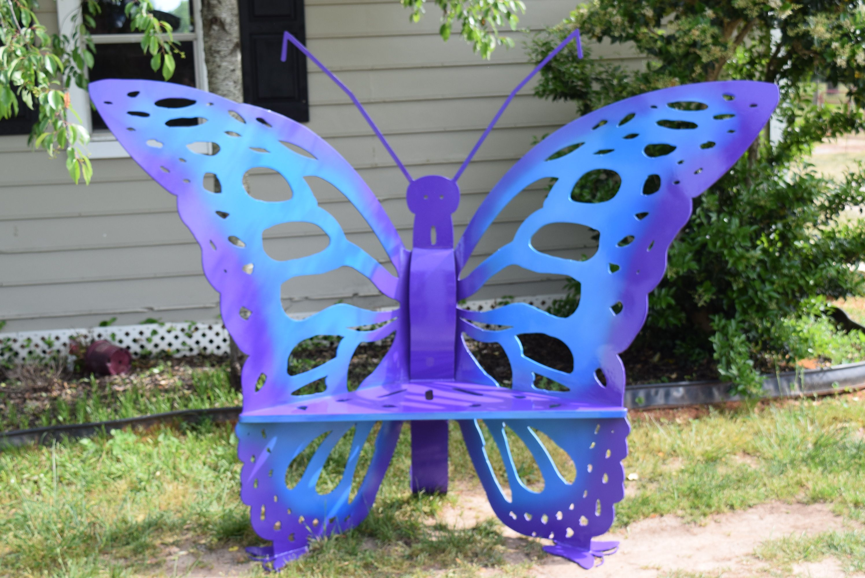 Buy A Hand Made Butterfly Steel Metal Bench Made To Order From 50 Shades Of Steele Custommade Com