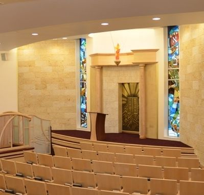 Custom Made Synagogue Stained Glass