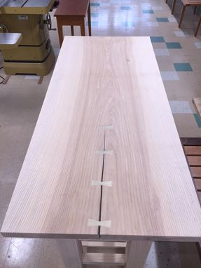 Custom Made Ash Slab Kitchen Table