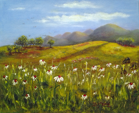 Custom Made Field Of Flowers - Oil Painting (Sold)