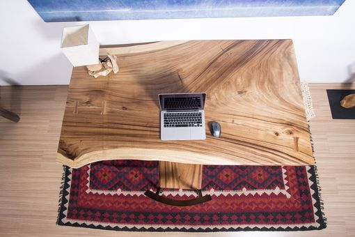 Custom Made Live Edge Thick Cut Wood Slab Table - Ideal For Desk / Wide Dining Table