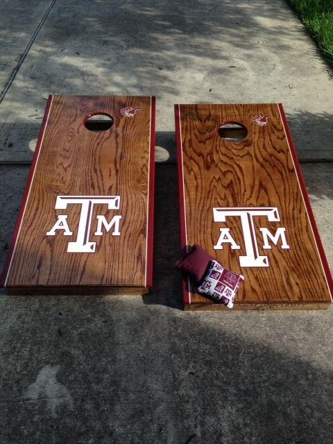 Handmade Custom Corn Hole Boards Texas A Amp M Aggies By My