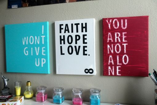 Custom Made Inspiration Quote Canvas Prints