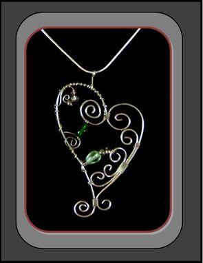 Custom Made Silver,Heart,Necklace,Mother Daughter Jewelry