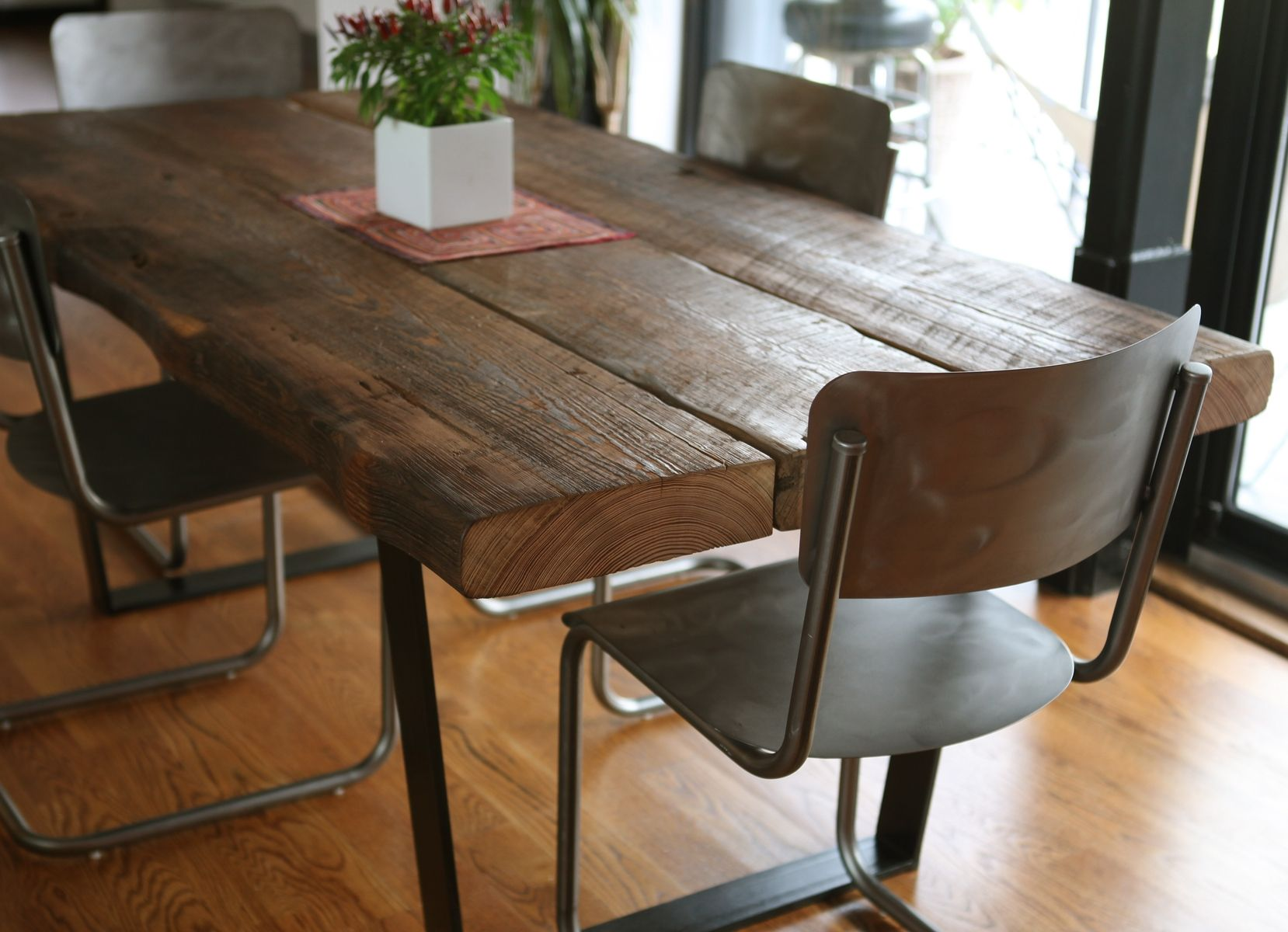 custom reclaimed dining table by left to right furniture custommade