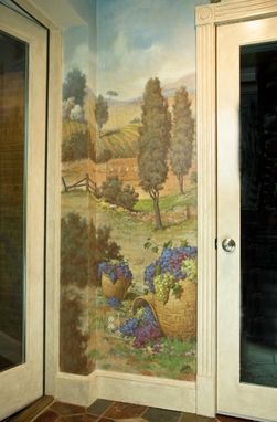Custom Made Tuscan Mural With Grapes