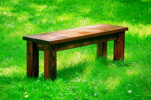 Custom Made Handmade Pine Farmhouse Bench