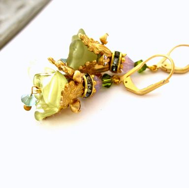 Custom Made Vintage Fairy Flowers Earrings