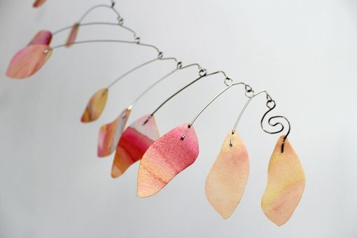 Custom Made Hanging Mobile - Rose Petals Abstract Art Kinetic Sculpture - Weir