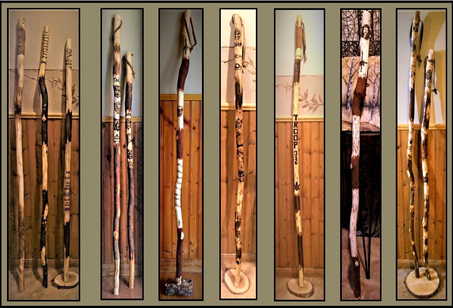 Buy A Custom Made Wood Anniversary Gift Hiking Stick