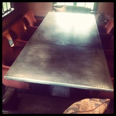 Custom Made Zinc Dining Table