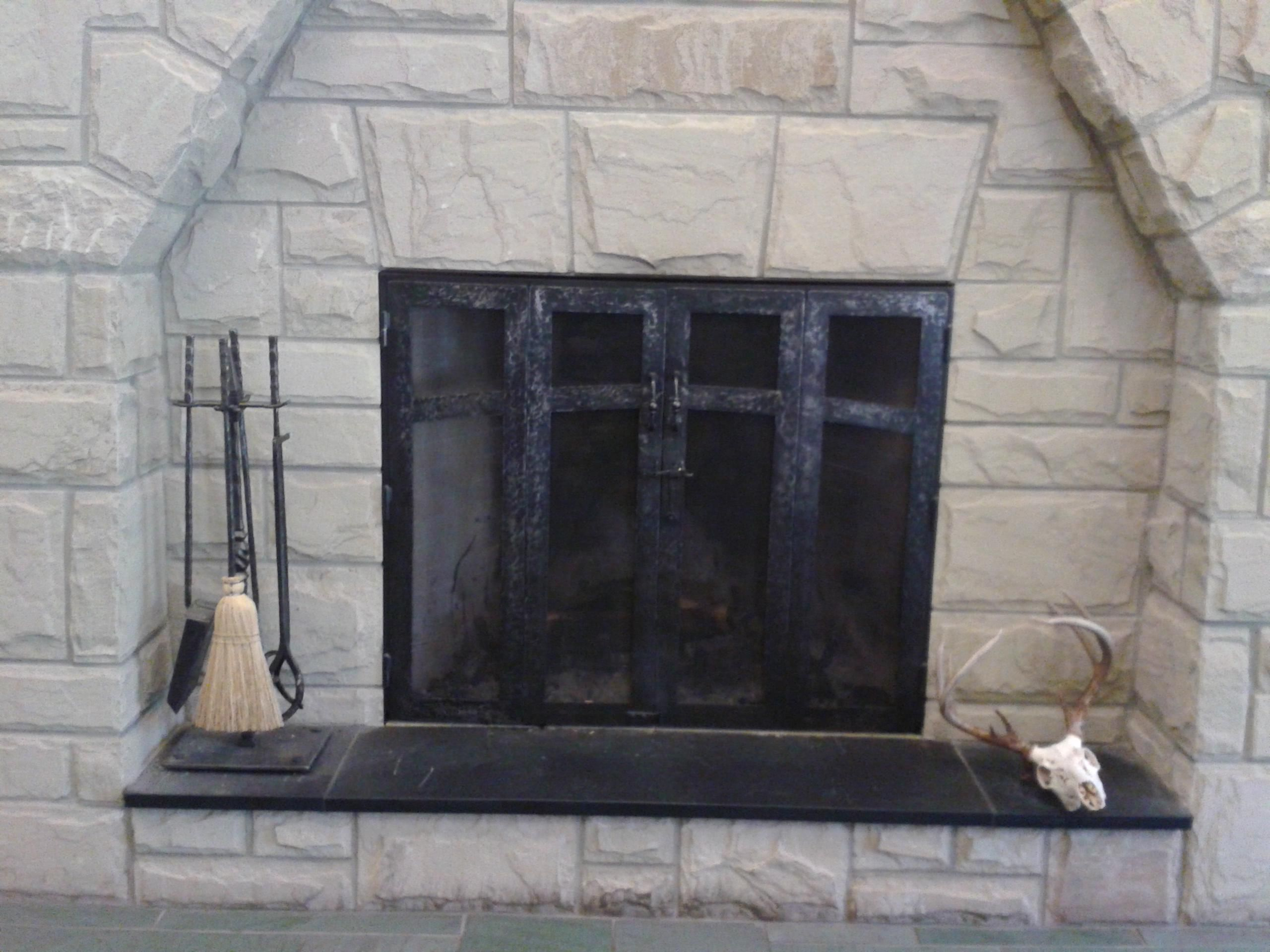 Hand crafted custom fireplace screen and fireplace tools Decorative hearth
