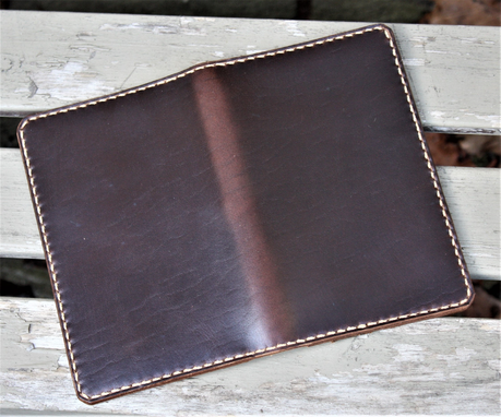 Custom Made Handmade Cover For Field Notes Card Wallet Scribo Horween Leather Brown Chromexcel