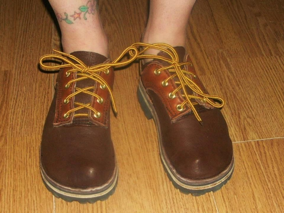custom lace up the front elk hide leather shoes by