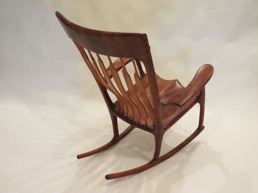 Custom Made Mahogany Rocking Chair