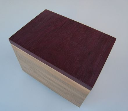Custom Made Cremation Urn In Maple And Purple Heart