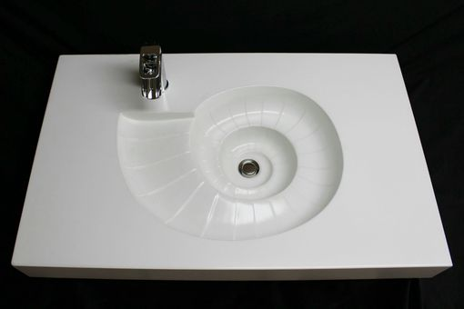 Hand Made Custom Concrete Shell Sink By The Concrete Sink