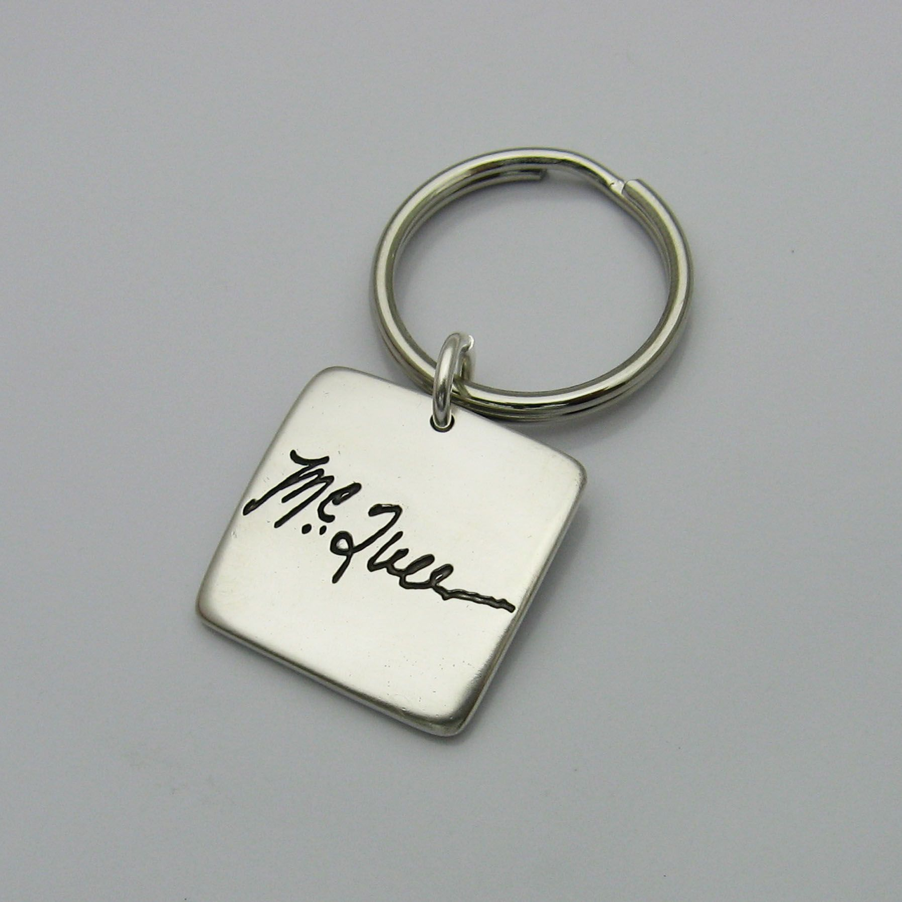Buy A Custom Personalized Signature Sterling Silver Square