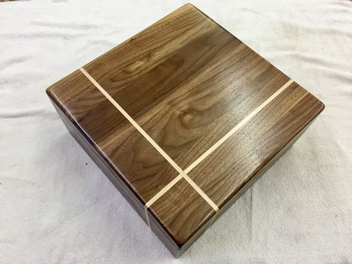 Custom Made Walnut Inlaid Box